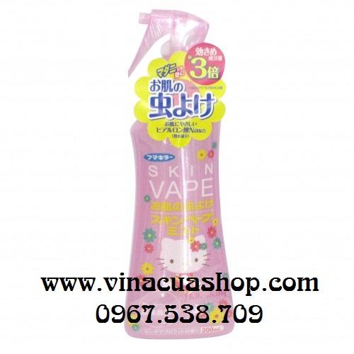 Xịt chống muỗi và côn trùng SKIN VAPE Hello Kitty (hồng).