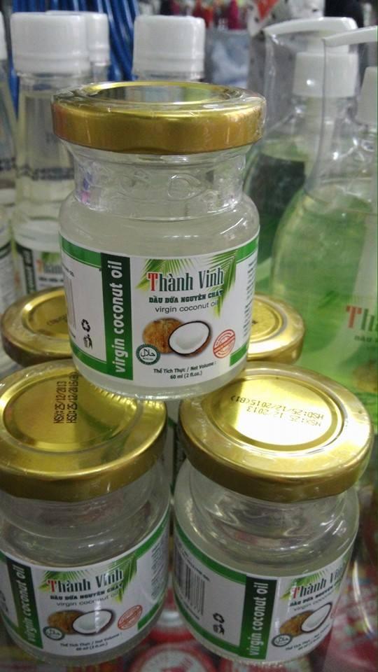 Dầu dừa nguyên chất Thành Vinh 60ml