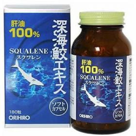 Dầu cá (từ gan cá mập) Orihiro Squalene 180 viên