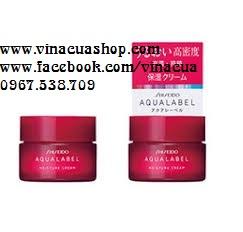 Kem dưỡng đêm Shiseido Aqualabel Moisture Cream màu đỏ