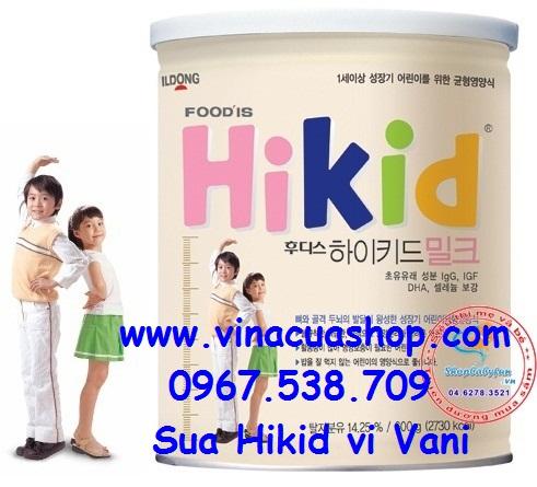 Sữa HiKid premium của hãng Ildong Hàn Quốc - tăng trưởng chiều cao