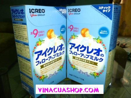 Sữa Nhật GiIico 9 (ICREO) dạng gói (thanh)