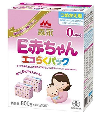 Sữa Morinaga E-Akachan0 cho trẻ sinh non/dễ dị ứng hộp giấy 800g (400g x 2 hộp)