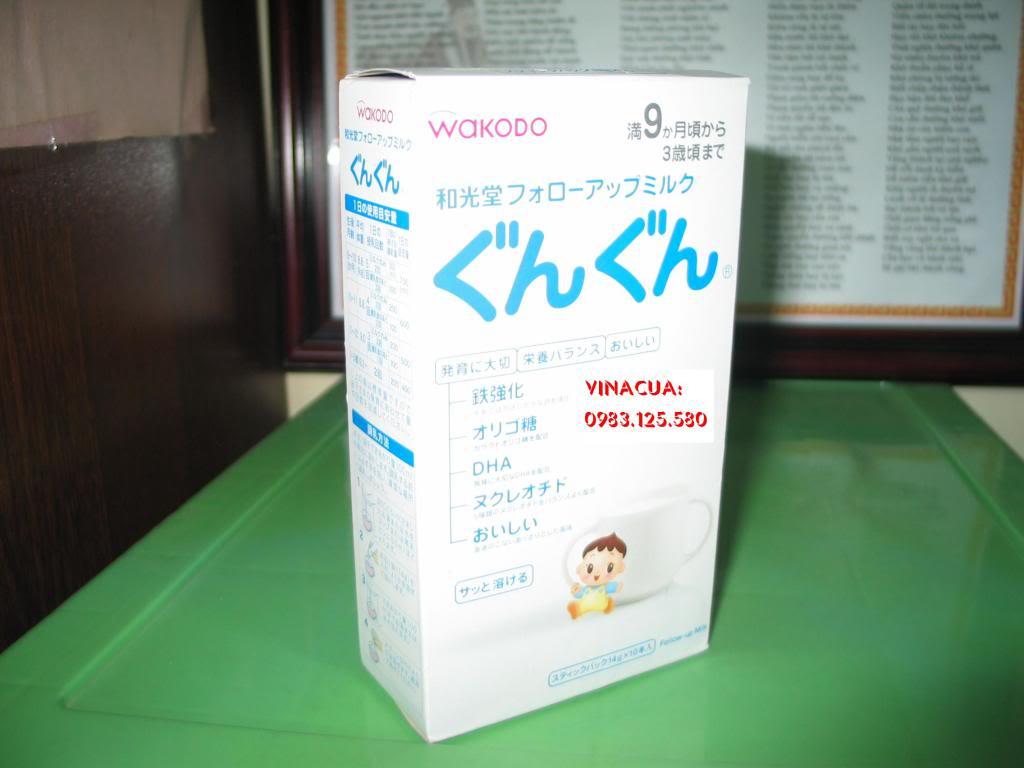 Sữa Nhật WAKODO 9 dạng gói (thanh)