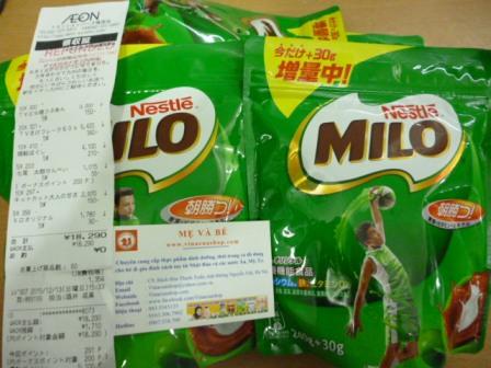 Sữa bột Milo 240g Nhật Bản