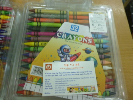 Bộ 32 sáp mầu Crayons Nhật Bản