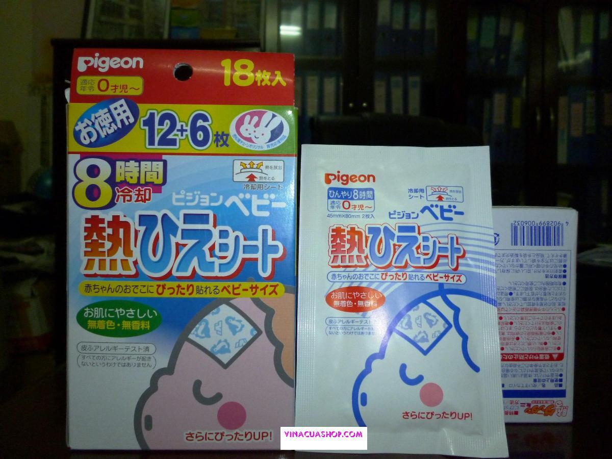 Miếng dán hạ sốt Nhật Bản cho bé.