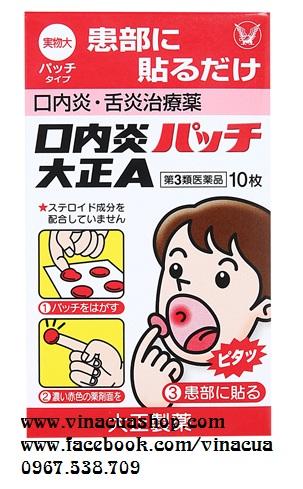 Miếng dán trị nhiệt miệng Taisho (dùng cho bé trên 5 tuổi)