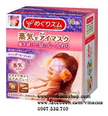 Miếng dán massage mắt hoa oải hương Nhật Bản 14 miếng