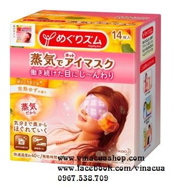 Miếng dán massage mắt hương cam Nhật Bản 14 miếng