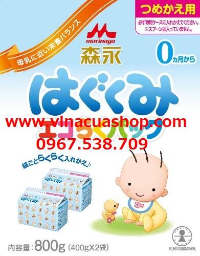 Sữa Morinaga 0 hộp giấy 800g (400g x 2 hộp)